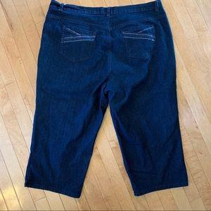 Gloria Vanderbilt Size 20W Dark Wash Jean Capris